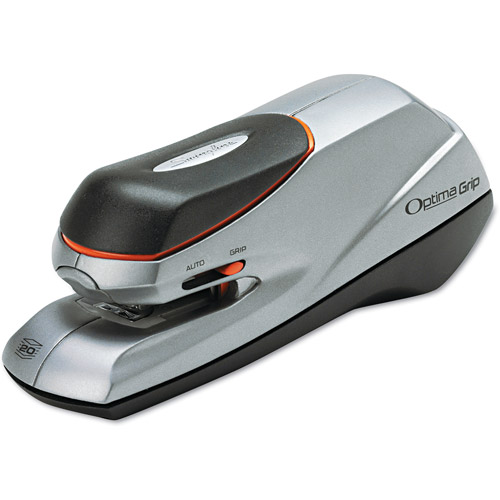Swingline Optima Grip Electric Stapler, 20 Sheet Capacity, Silver