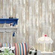 Multi-purpose PVC Vintage Self-adhesive Wood Grain Floor Wall Paper Covering Waterproof Peel & Stick Wallpaper Stickers Home Decor