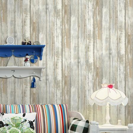Multi-purpose PVC Vintage Self-adhesive Wood Grain Floor Wall Contact Paper Covering Waterproof Peel & Stick Wallpaper Stickers Home Decor