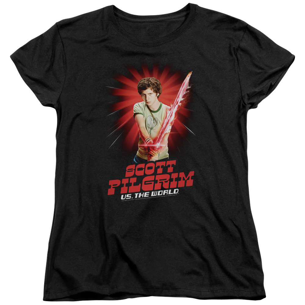 Scott Pilgrim/Super Sword   S/S Women's Tee   Black     Uni645