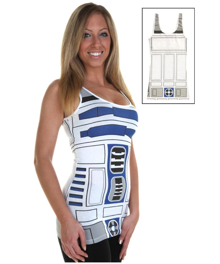 MyPartyShirt - R2-D2 Star Wars Womens Tank Top Costume Adult Tunic ...