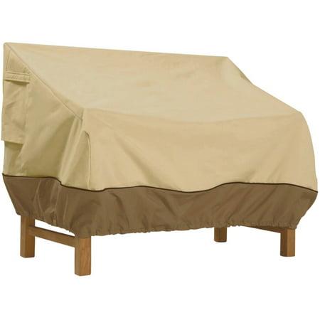 Classic Accessories Veranda Loveseat Furniture Storage Cover For Hampton Bay Spring Haven Wicker Patio Loveseats ()