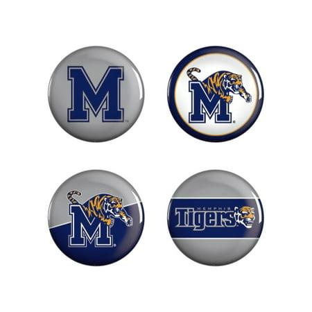 4 Pack Button Memphis Tigers -