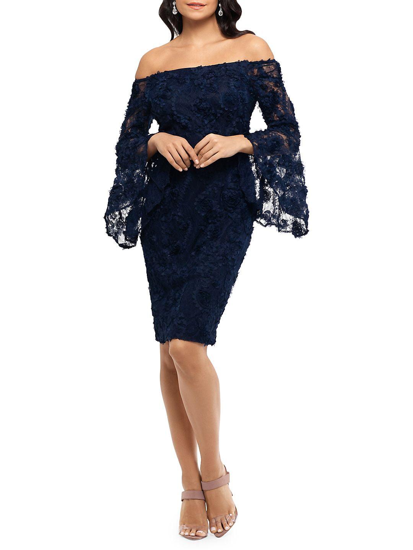 Off-the-Shoulder 3D Floral Dress