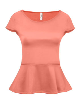 fc1e9b55cda Product Image Simlu Short Sleeve Womens Peplum Shirt Made in USA
