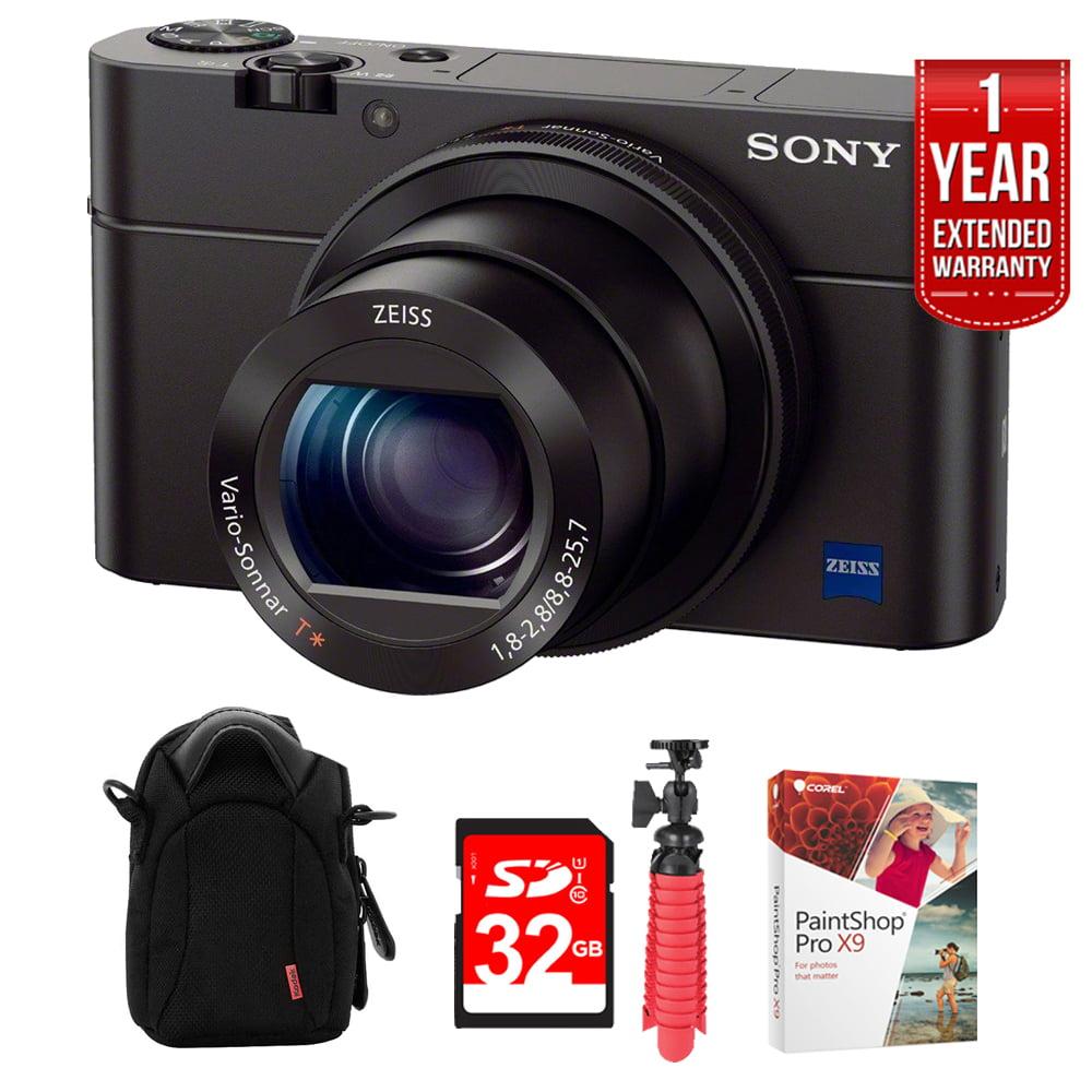 Sony Cyber-shot DSC-RX100 III 20.2 MPDigital Camera Black + Ultimate 32GB Bundle