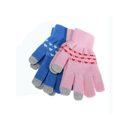 1 Pair Magic Adult Unisex Men Women Warm Windproof Anti-slip Thermal Knit Touch Screen Touchscreen Gloves Stretch for Smartphone Full Finger fit for Winter