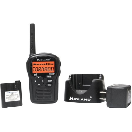 Hh54vp2 Portable Emergency Weather Radio With Same  Black   All New Wr120 Noaa Electronics Adapter Crank Black Clock Dropin Consumer Battery    By Midland