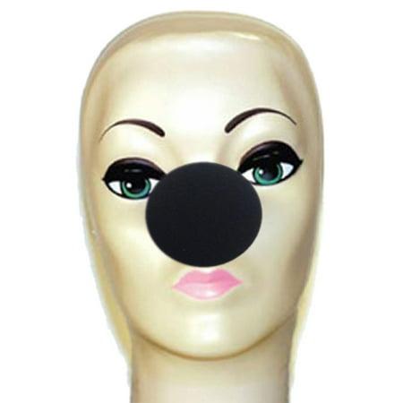 """Magic By Gosh Black Foam Clown Nose (2"""")"""