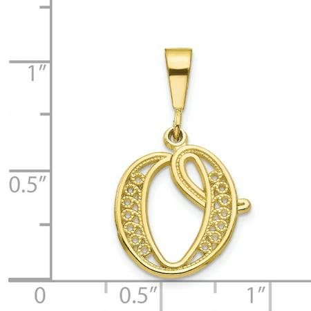 10K Yellow Gold Initial O Charm - image 1 de 2