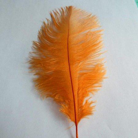Ostrich Feather Decorative Centerpiece, 15-Inch, 1-Piece, Orange - Feather Centerpiece