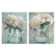 "Masterpiece Art Gallery Farmhouse Peonies I & II In Vase By Studio Arts Canvas Art Print Set of 2 22"" x 28"""