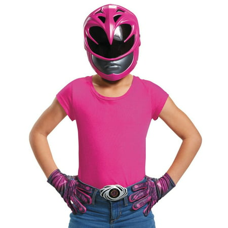 Pink Ranger 2017 Accessory Kit Girls Child Halloween Costume, One Size - Hyper Halloween 2017