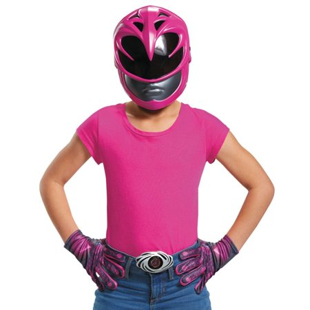 Pink Ranger 2017 Accessory Kit Girls Child Halloween Costume, One Size (Set Times Escape Halloween 2017)