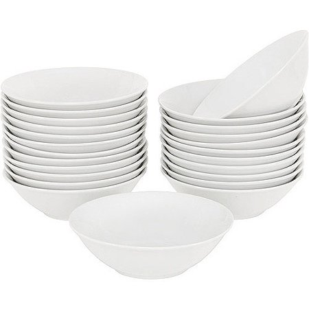 "10 Strawberry Street 6.25"" Round Bowls, Set of 24, White"
