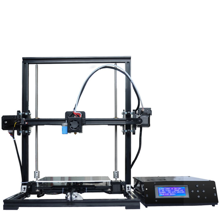 Tronxy X3A 3D Printer Aluminium Profile Extrusion Kit Printer 3D Printing SD Card LCD Screen Plastic Wheel with Bearings