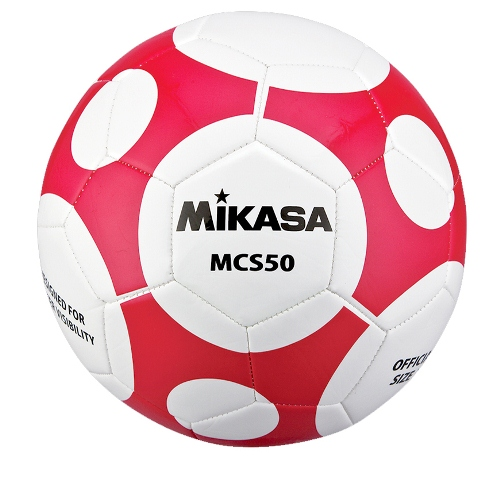 Soccer Ball by Mikasa Sports, MCS Orbit Size 5 - White/Red