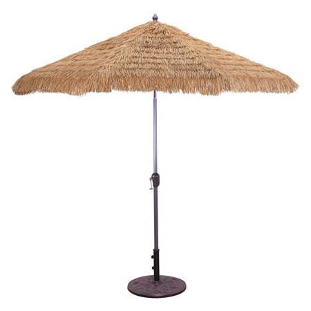 Aluminum Thatch Patio Umbrella