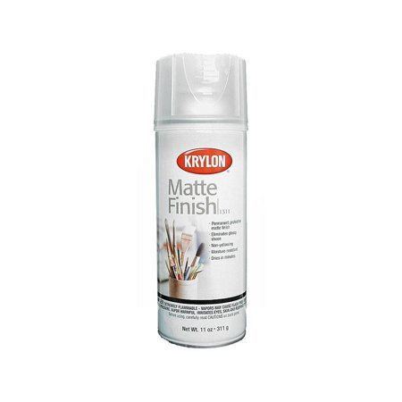 Clear Satin Spray (Krylon Matte Finish Clear, 11 oz)