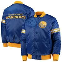 Golden State Warriors Starter The Draft Pick Varsity Satin Full-Snap Jacket - Royal