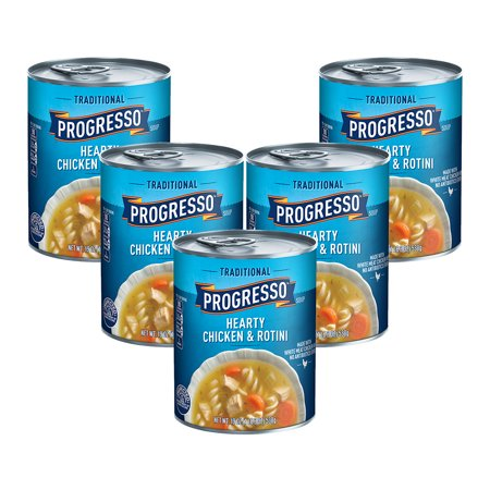 (5 Pack) Progresso Traditional Hearty Chicken and Rotini Soup, 19