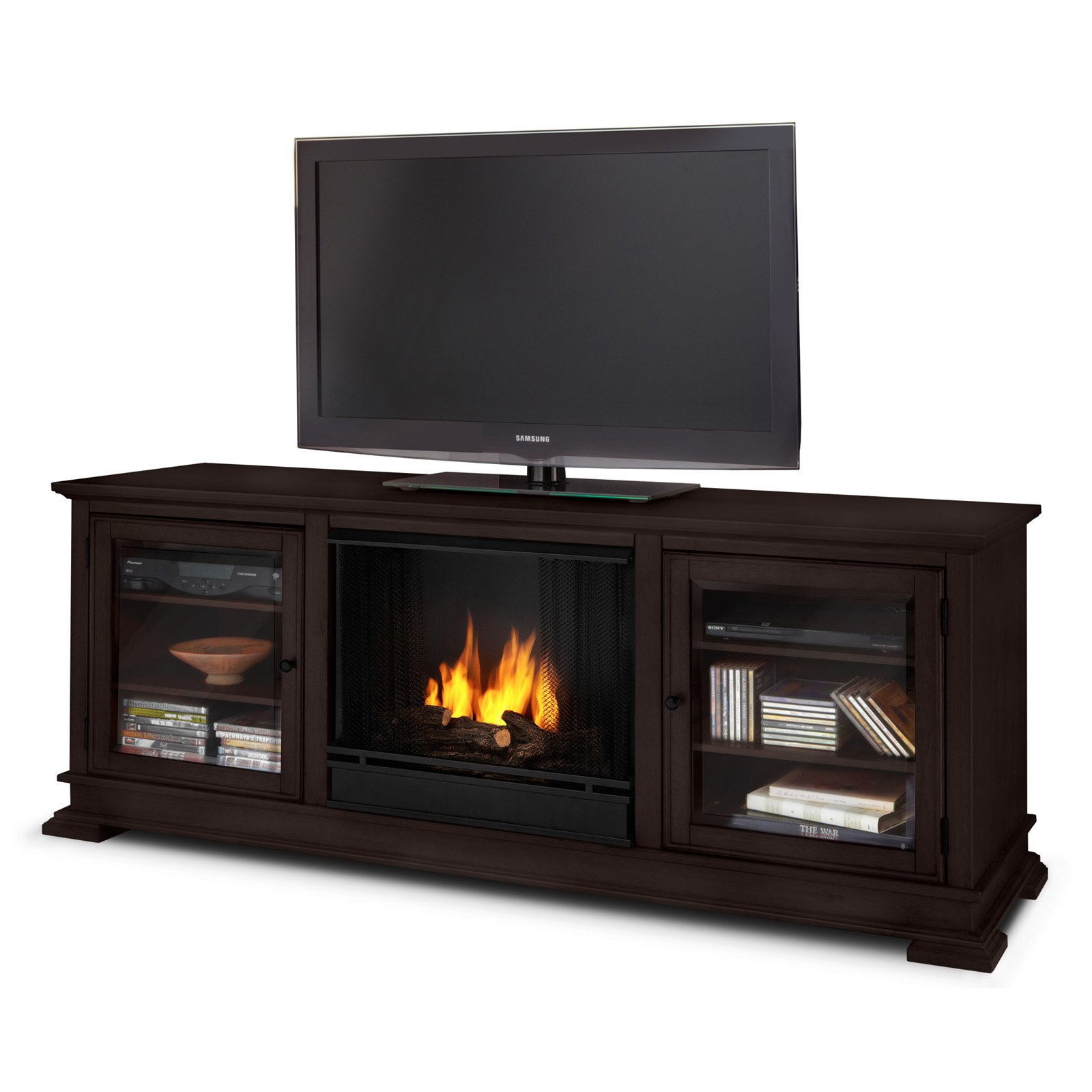 Hudson Gel Fireplace in Espresso