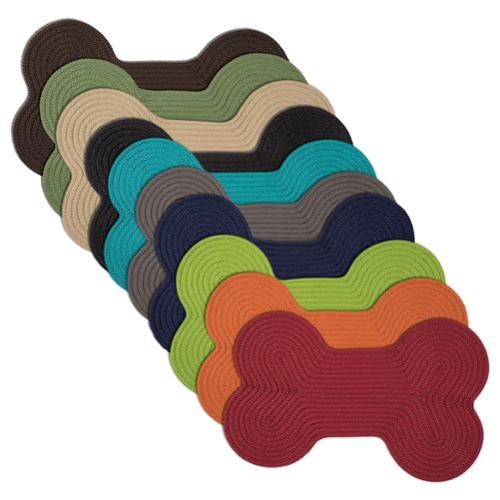 """Doggy Days Assorted Color Reversible Dog Bone Rug (18x30-inch) Doggy Days Red 18""""x30"""""""