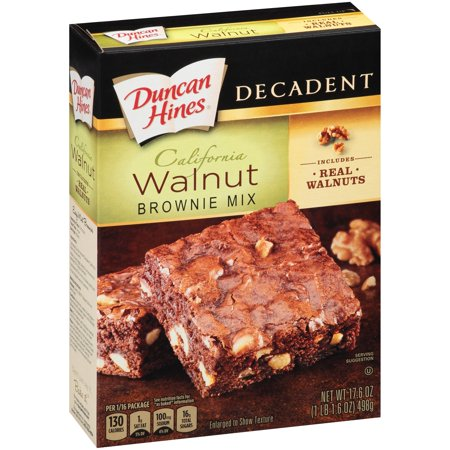 (3 Pack) Duncan Hines® Decadent California Walnut Brownie Mix 17.6 oz. Box