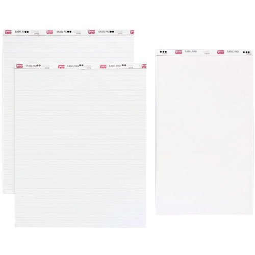 Sparco Products Standard Easel Pad, 1'' Ruled, 27''x34'', 40 Shts, 4/CT, White