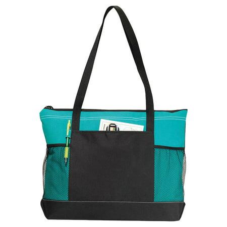 Flap Pocket Shoulder Bag (Gemline Shoulder Straps Front Pocket Zippered Tote Bag )