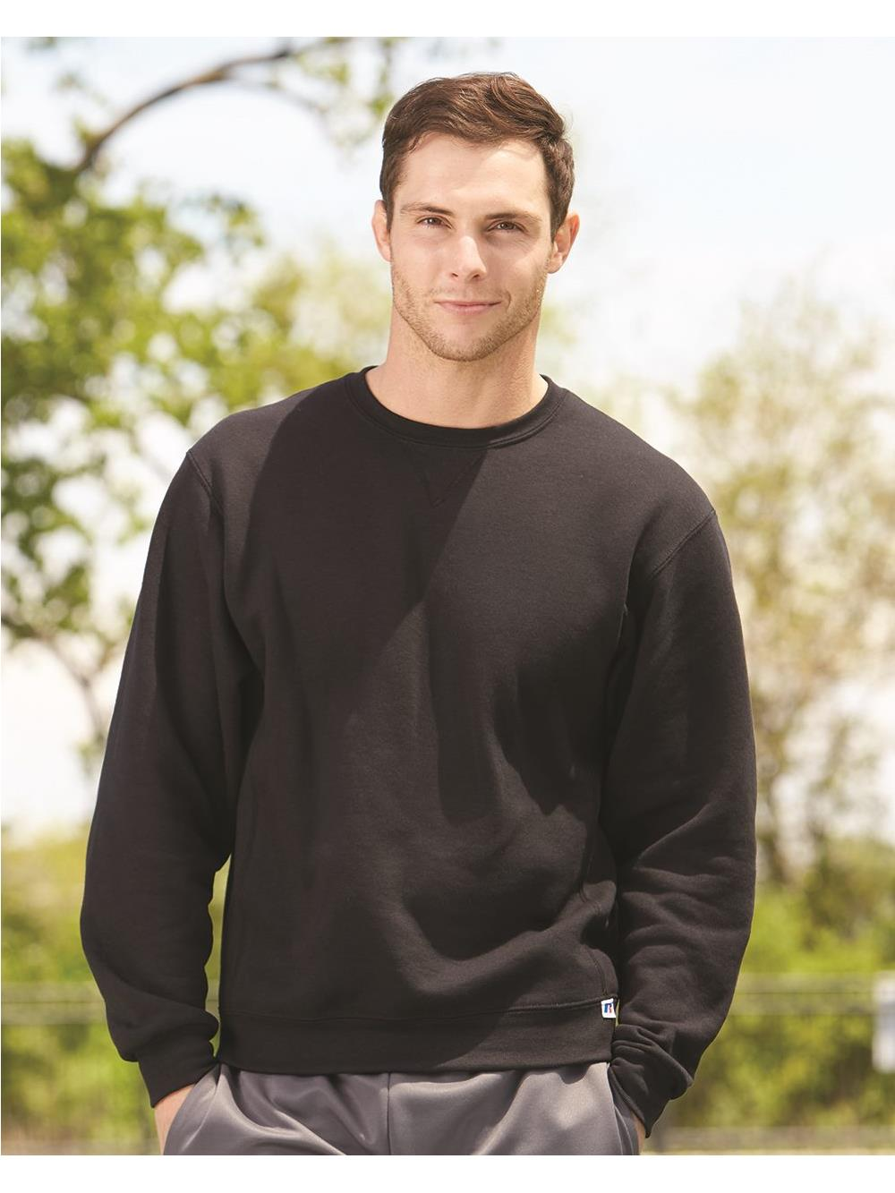 Russell Athletic Mens Dri-Power Fleece Crewneck T-Shirt