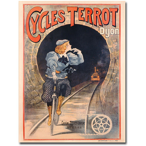"Trademark Art ""Cycles Terrot, 1900"" Canvas Wall Art"
