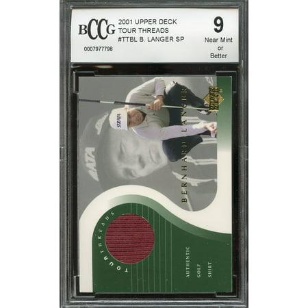 2001 upper deck tour threads #ttbl BERNARD LANGER golf BGS BCCG 9
