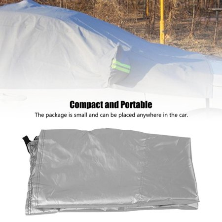 Ymiko Car Snow shield Cover,Silver Car Snow Shield Cover Sun Shade Protector Ice Rain Dust Frost Guard Waterproof, Car Cover Sun Shade