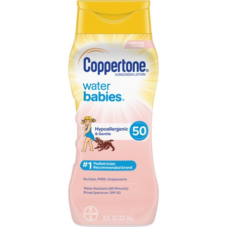 Coppertone WaterBABIES Sunscreen Lotion SPF 50, 8 fl oz