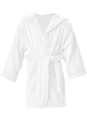 Children's Solid Color Outdoor Pool Coverup and Beach Coverup ,Black, 4-6 Years