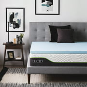 "Lucid 2"" Gel Infused Ventilated Memory Foam Mattress Topper"