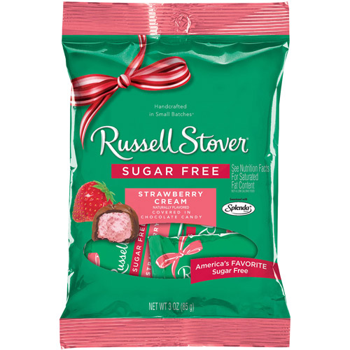 Russell Stover: Covered With Chocolate Candy Sugar Free Strawberry Cream, 3 Oz