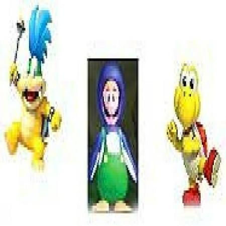 Nintendo Mario Bros U Micro Figure  3 Pack   Larry Koopa Penguin Luigi Red Koopa Troopa