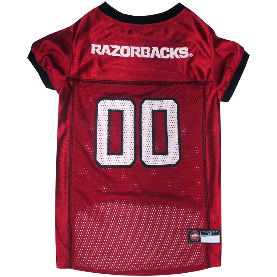 Pets First College Arkansas Razorbacks Collegiate Dog Jersey, Available in Various Sizes