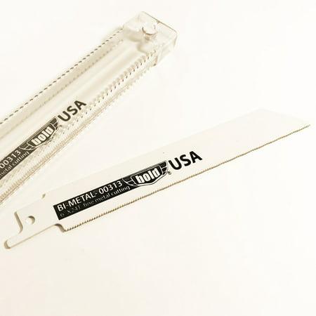Black Rhino 00 6-Inch by 24TPI Reciprocating Saw Blades for Cutting Metal, 5-Pack - Black Rhino USA - 313 ()