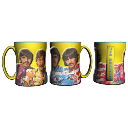 - Boelter Brands Beatles Sergeant Pepper Sculpted Relief Mug