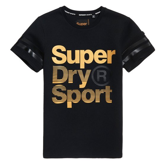 Superdry - Superdry Men s Gym Tech Gold Award T-Shirt Black 87e8526b687