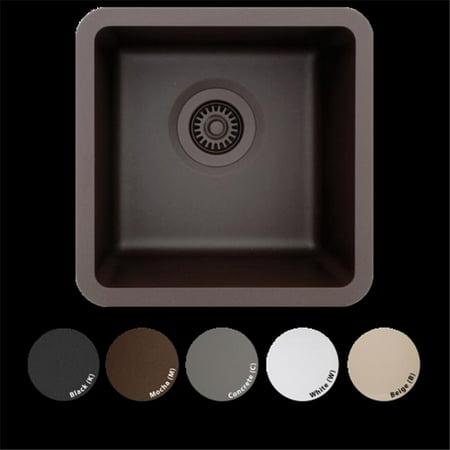 Lexicon Platinum Lp 1515 B Small Single Bowl Quartz Composite Kitchen Sink  44  Beige