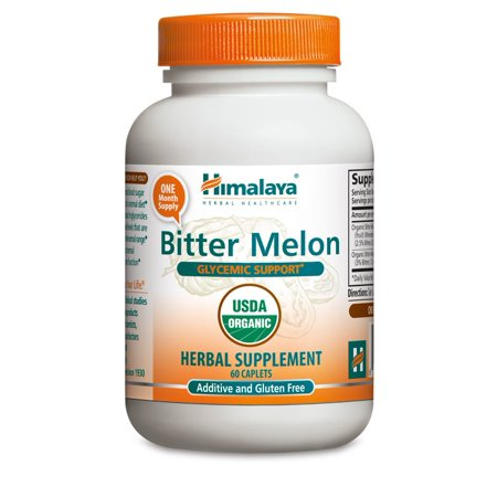 Himalaya Herbals Organic Bitter Melon For Glycemic  Pancreatic Support   Weight Management  660Mg  60 Ct
