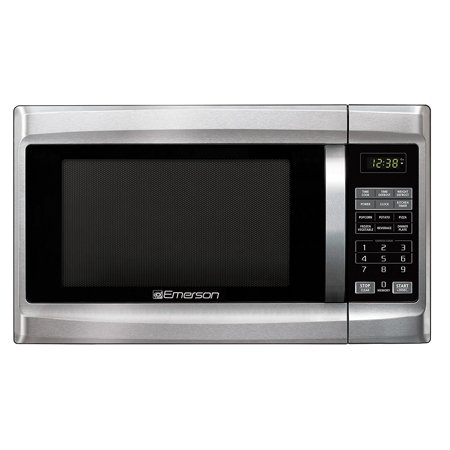 Emerson MW1338SB 1.3 Cu. Ft. 1000 Watt, Touch Control Microwave Oven, Stainless (Emerson Stainless Steel Microwave 1-3 Cu Ft)