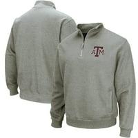 Texas A&M Aggies Colosseum Team Logo Quarter-Zip Pullover Jacket - Heathered Gray