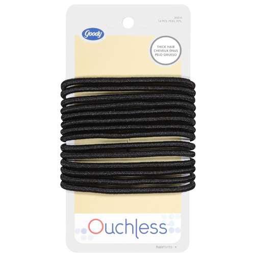 Goody Ouchless Hair Ties, Black 14 ea