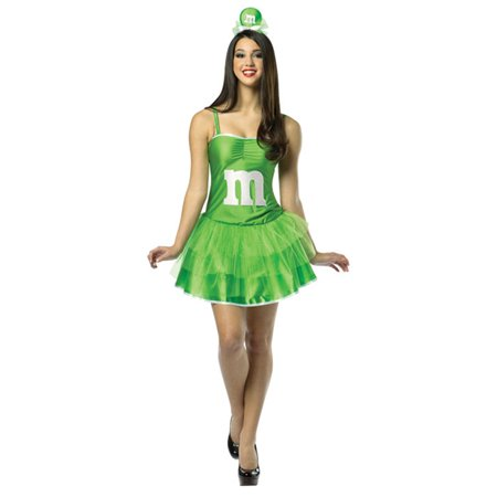 Adult M&M�S� Green Party Dress Costume by Rasta Imposta 3932](Rasta Woman Halloween Costume)