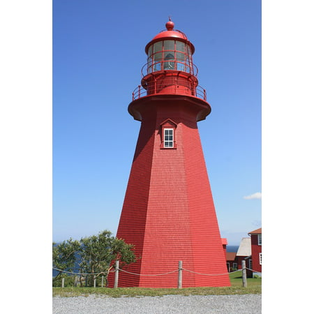 LAMINATED POSTER Building Places Of Interest Red Tower Lighthouse Poster Print 24 x 36 ()